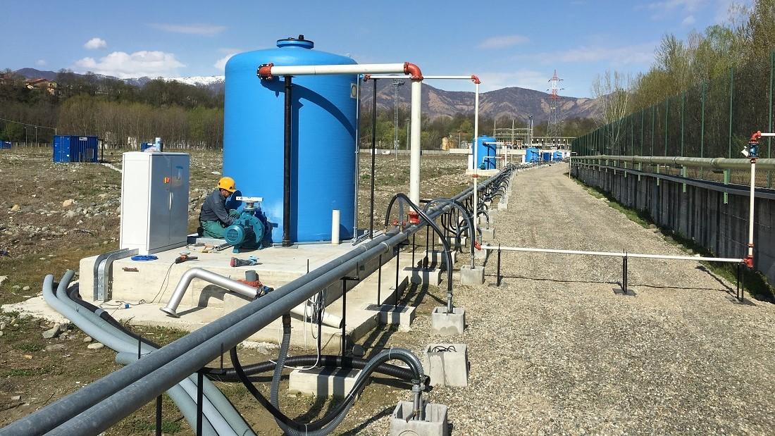 Bonifica petrolchimico con impianto wellpoint eductor