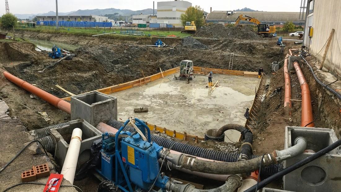 Pozzi vasca accumulo impianto industriale
