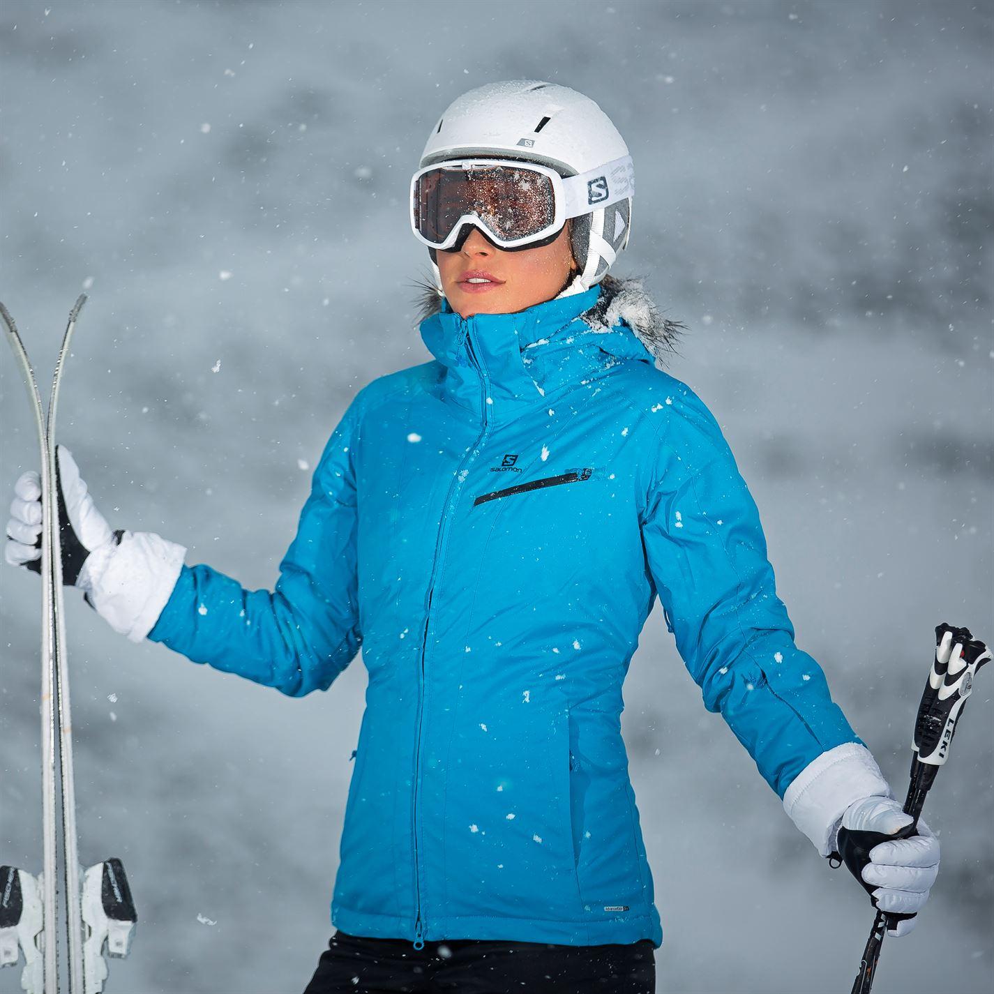 b043833f1 Jakna Salomon Rise Ski Jacket Ladies Plava - Jeftinije.hr