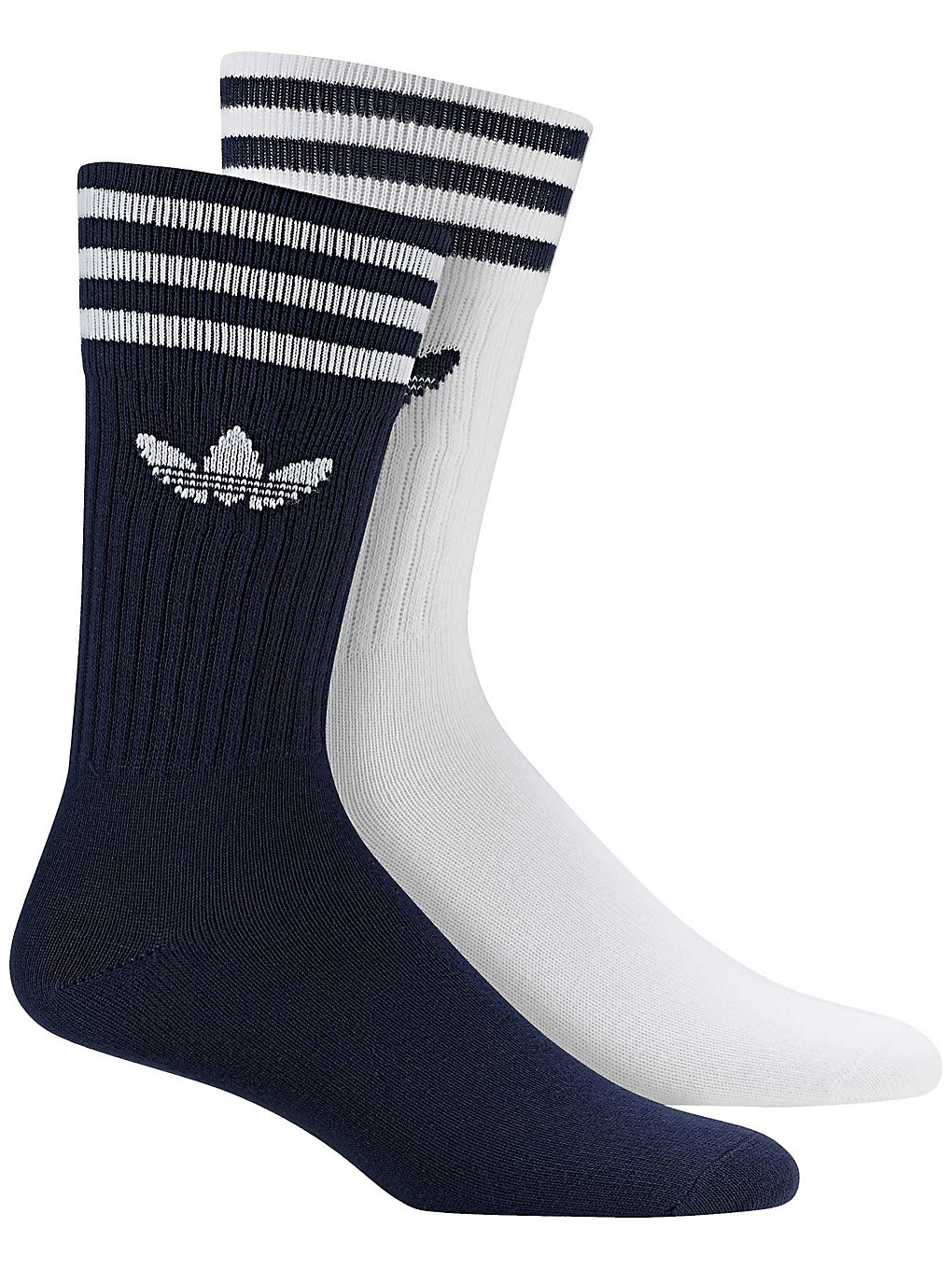 get new clearance sale sold worldwide adidas Originals Solid Crew 2PP Socks dark blue / white Gr ...