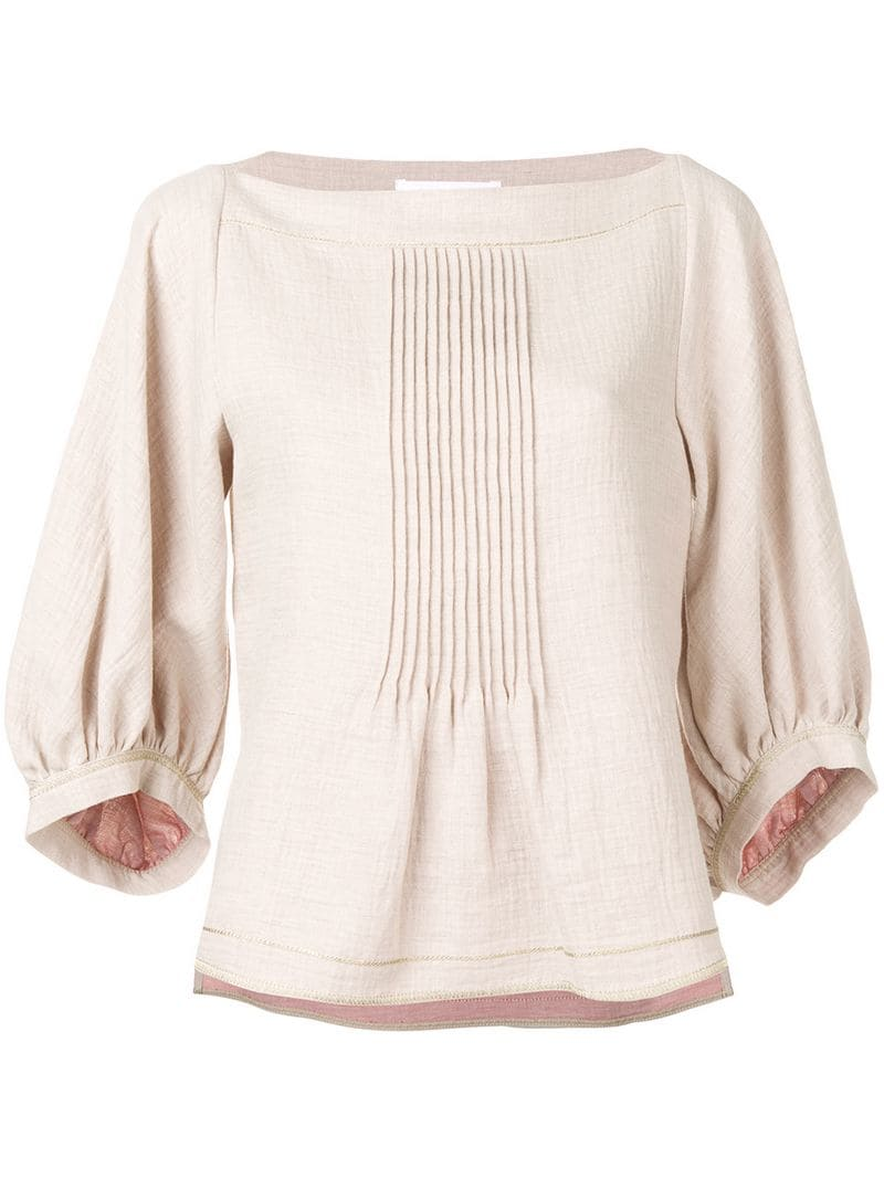 75cfa51112 See By Chloé-pleated top-women-Neutrals