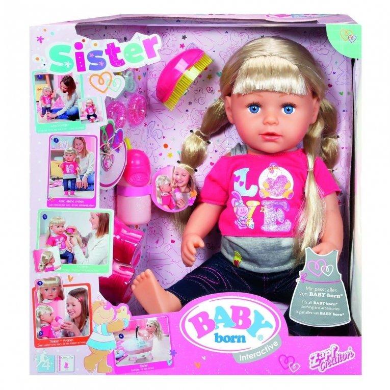 Zapf Sestrica Baby Born Interactive Ceneje Si