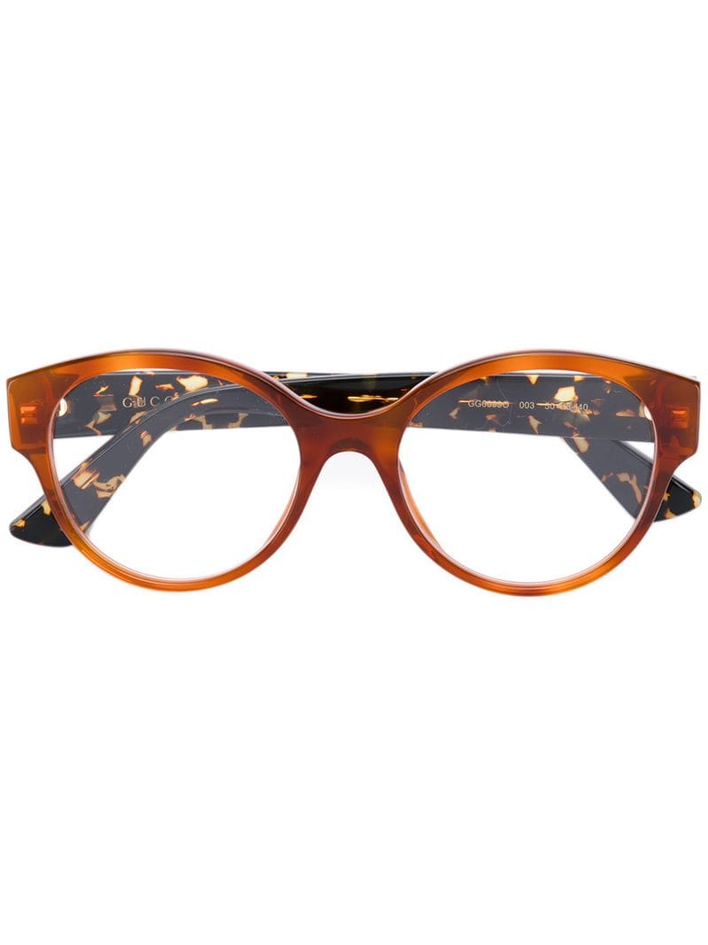 3cc4f7b3bfe Gucci Eyewear - round frame glasses - women - Yellow - Jeftinije.hr