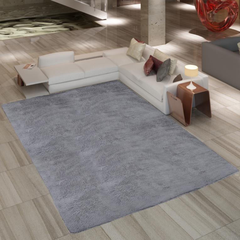 vidaxl siva kosmata preproga 200x290cm. Black Bedroom Furniture Sets. Home Design Ideas
