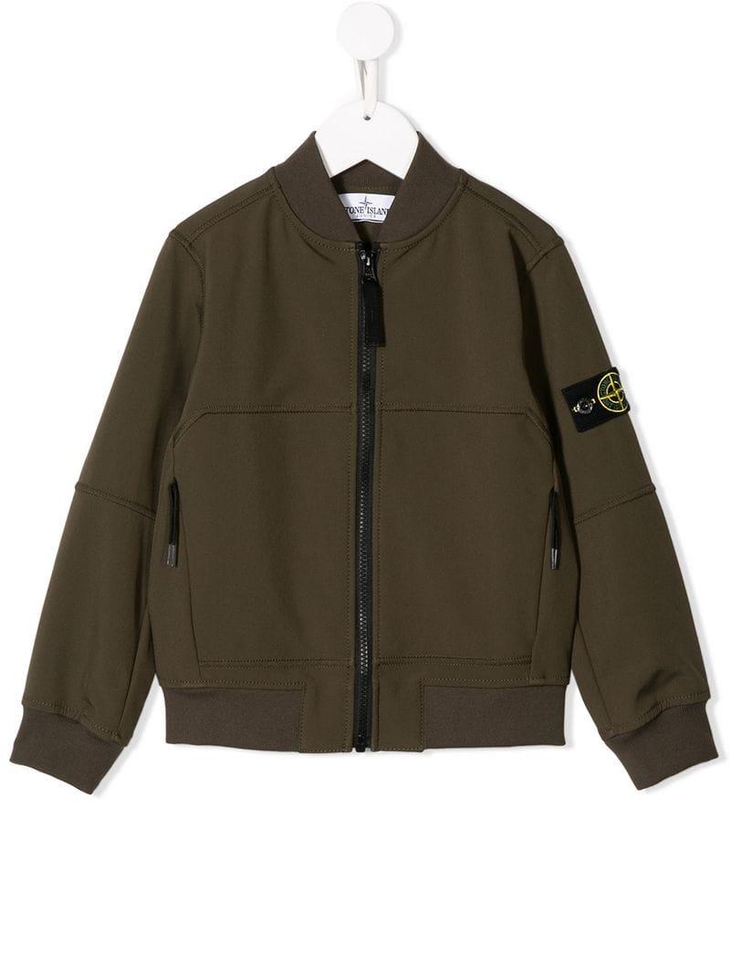 da1f17ddb Stone Island Junior-patch detailed bomber jacket-kids-Green - Ceneje.si