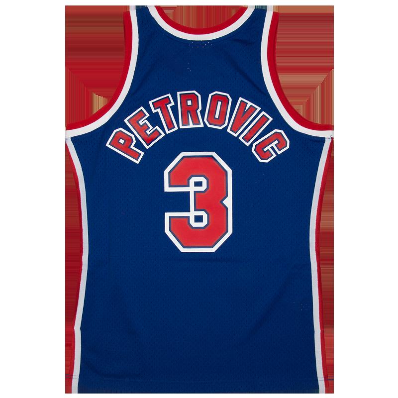7ed690e7a0e Dražen Petrović 3 New Jersey Nets 1992-93 Mitchell & Ness Swingman dres