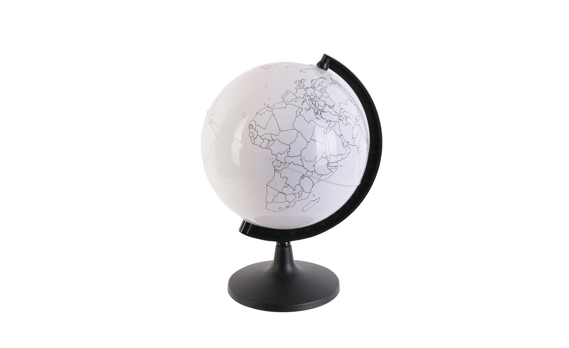 Dekorativni Globus S Olovkama Za Bojanje 16 5x15x22cm Jeftinije Hr