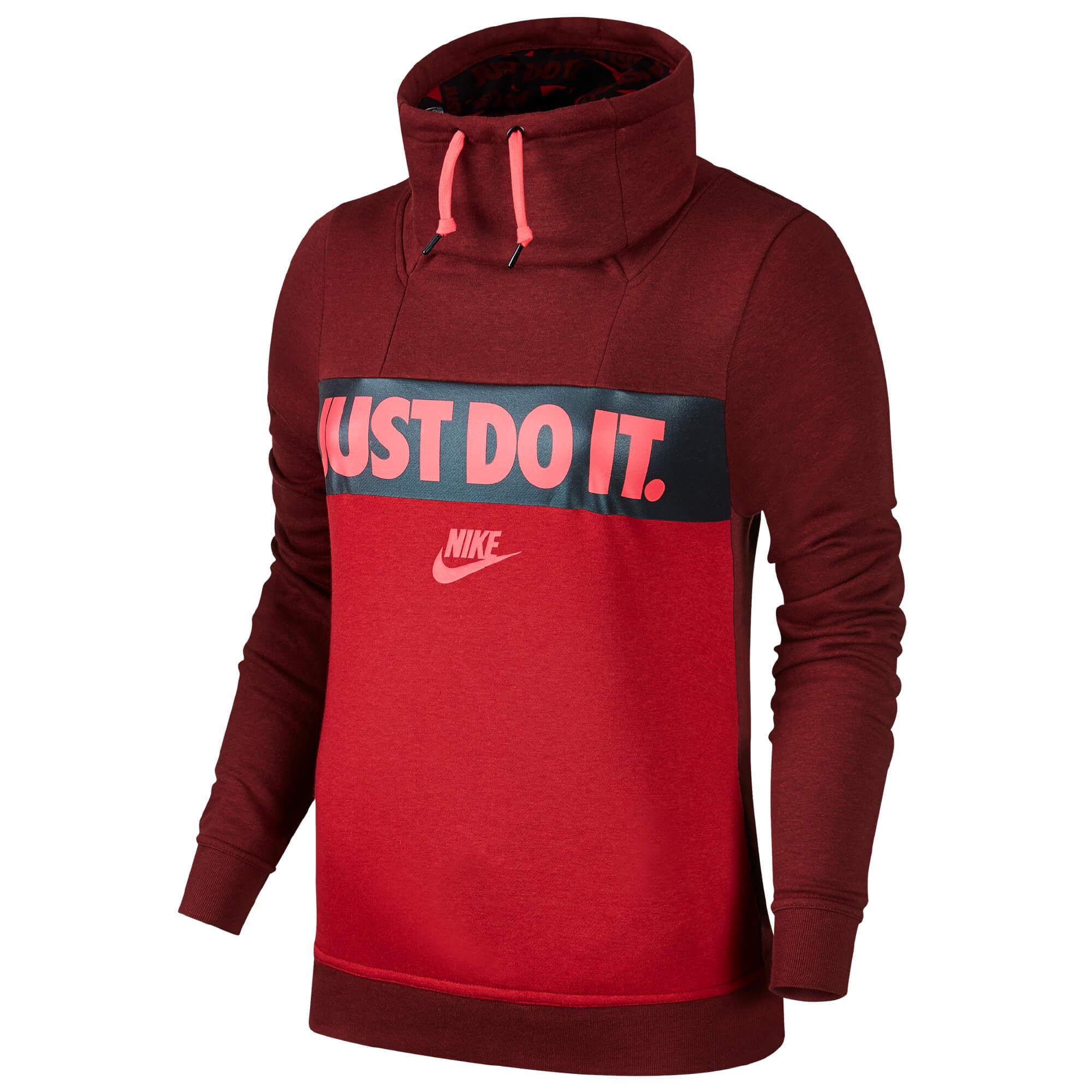 5ca777b51173 Nike ženski pulover   854306-619 Rdeča M NSW JKT FNL GX - Ceneje.si