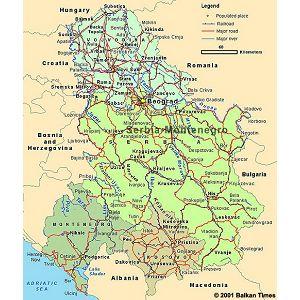 karta srbije i crne gore KARTA SRBIJE I CRNE GORE   Jeftinije.hr karta srbije i crne gore