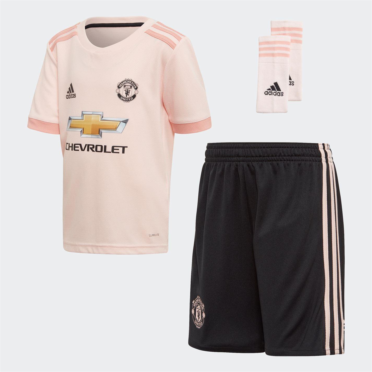 6369aebb604 adidas Manchester United Away Mini Kit 2018 2019 Roze - Jeftinije.hr