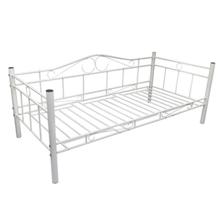 vidaxl krevet bijeli metalni madrac le aj 90 x 200 cm. Black Bedroom Furniture Sets. Home Design Ideas