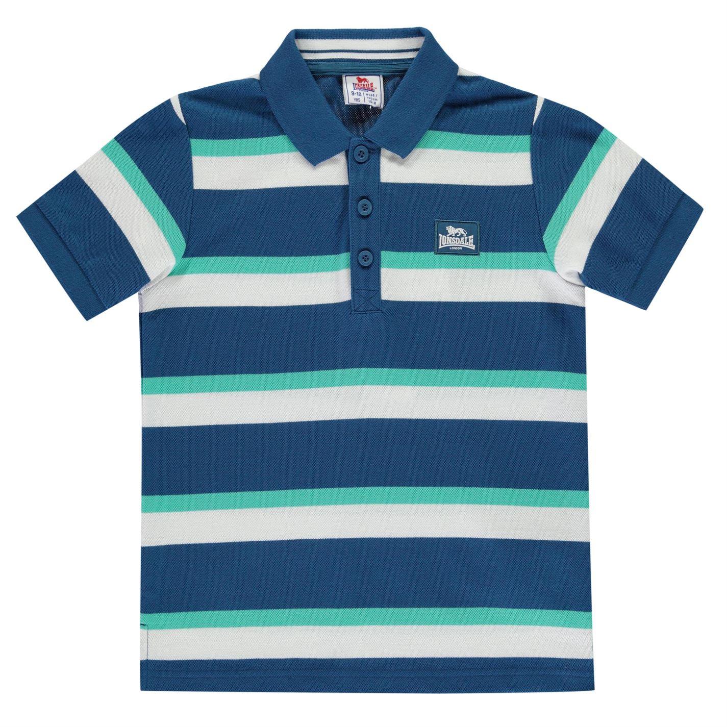 Polo majica Lonsdale Stripe Polo Junior Boys Blue Teal - Jeftinije.hr 28f0ce9430e