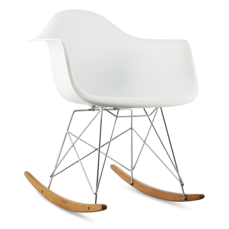 oneconcept aurel bijela stolica za ljuljanje retro pp. Black Bedroom Furniture Sets. Home Design Ideas