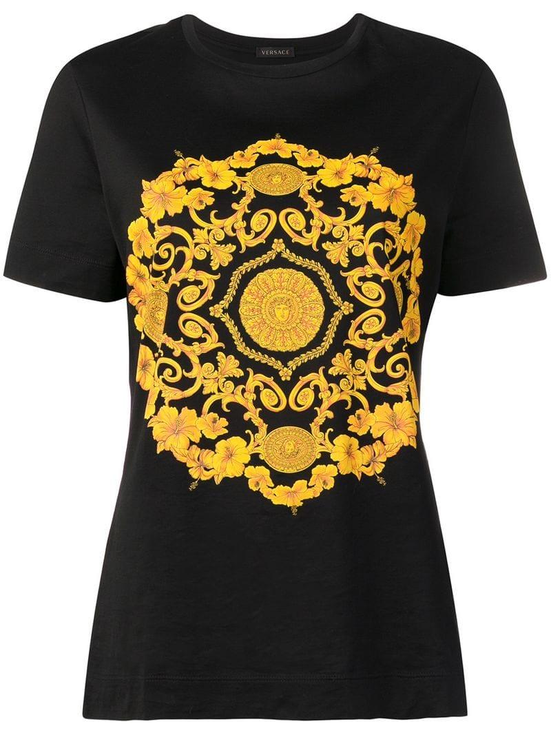 dc1da35a Versace-baroque print T-shirt-women-Black - Ceneje.si