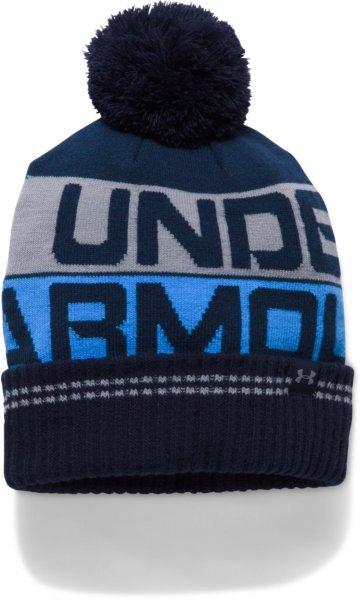53c85b924aa03 Under Armour Men S Retro Pom Beanie 20 Midnight Navy Mako Blue Steel ...
