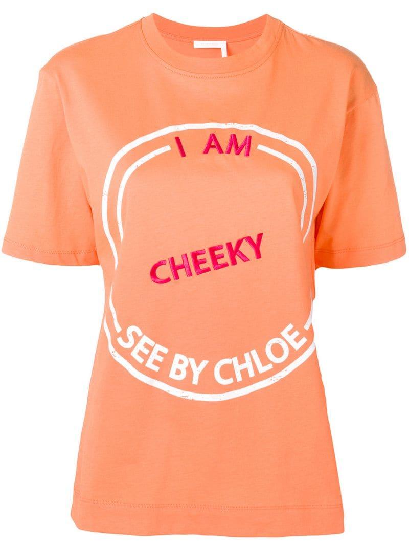 9e8fffc06d See By Chloé-I Am Cheeky T-shirt-women-Orange