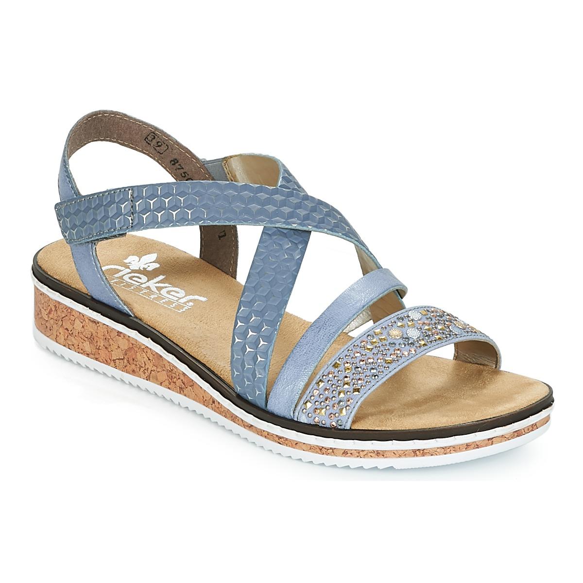first rate 20cd1 78ed7 RIEKER ženski sandali DAMADIOP, modri - Ceneje.si