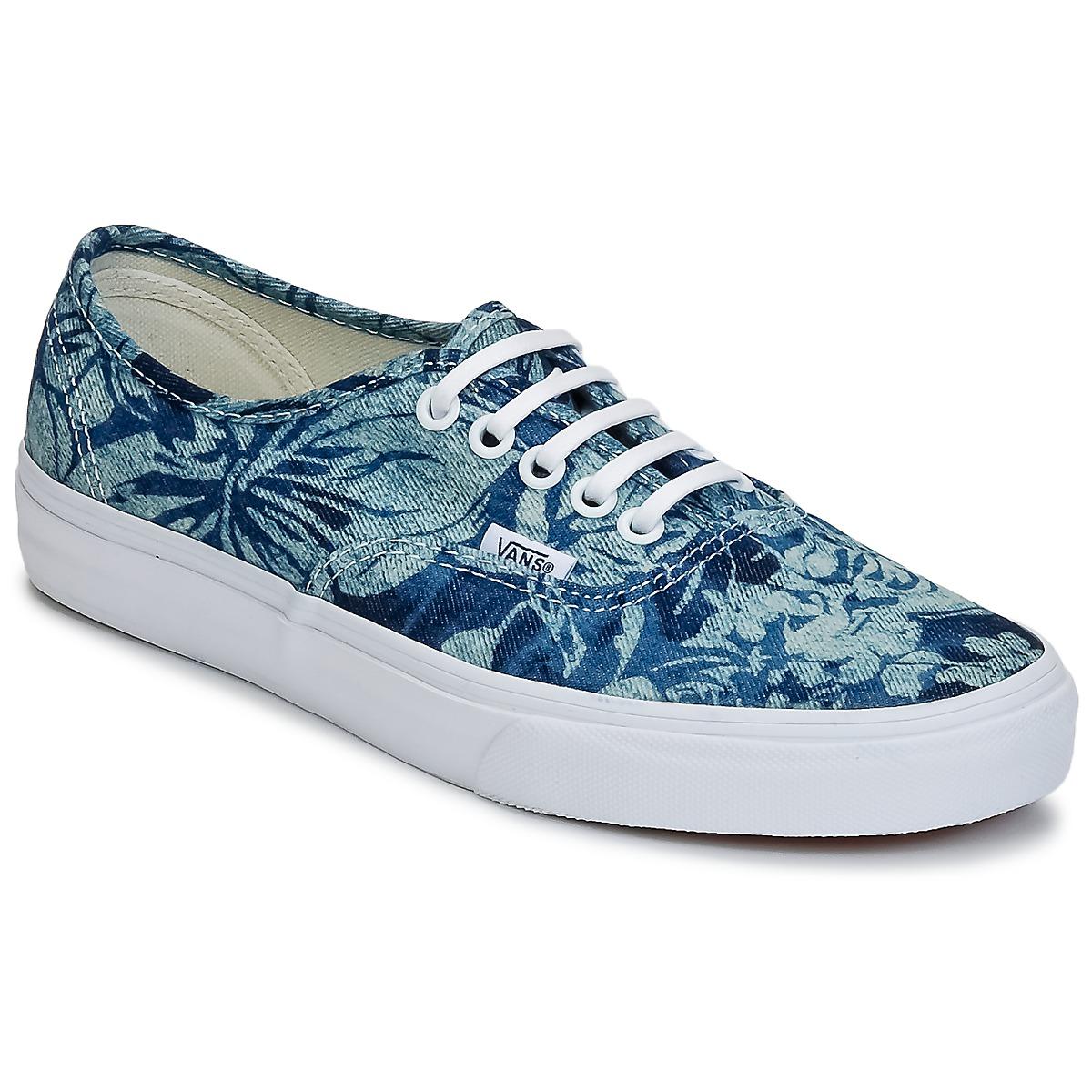 vans bleu fleur