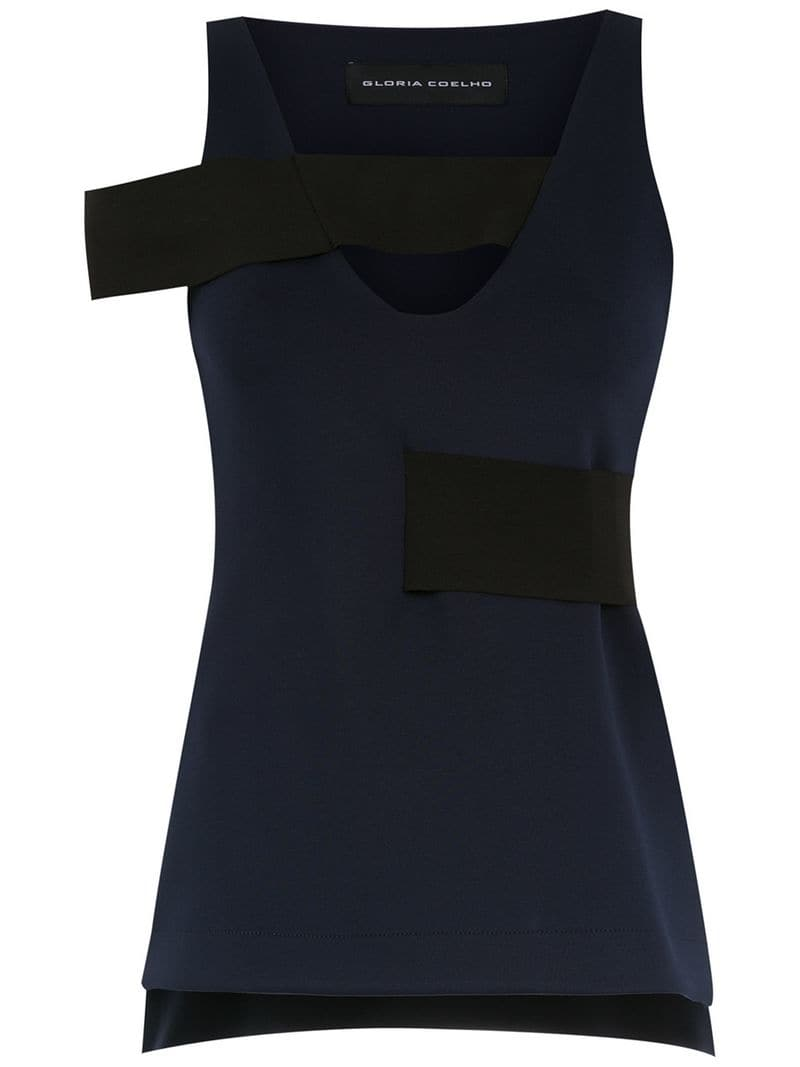 5a74b0fd670ff Gloria Coelho - tank top with strap detail - women - Blue - Jeftinije.hr
