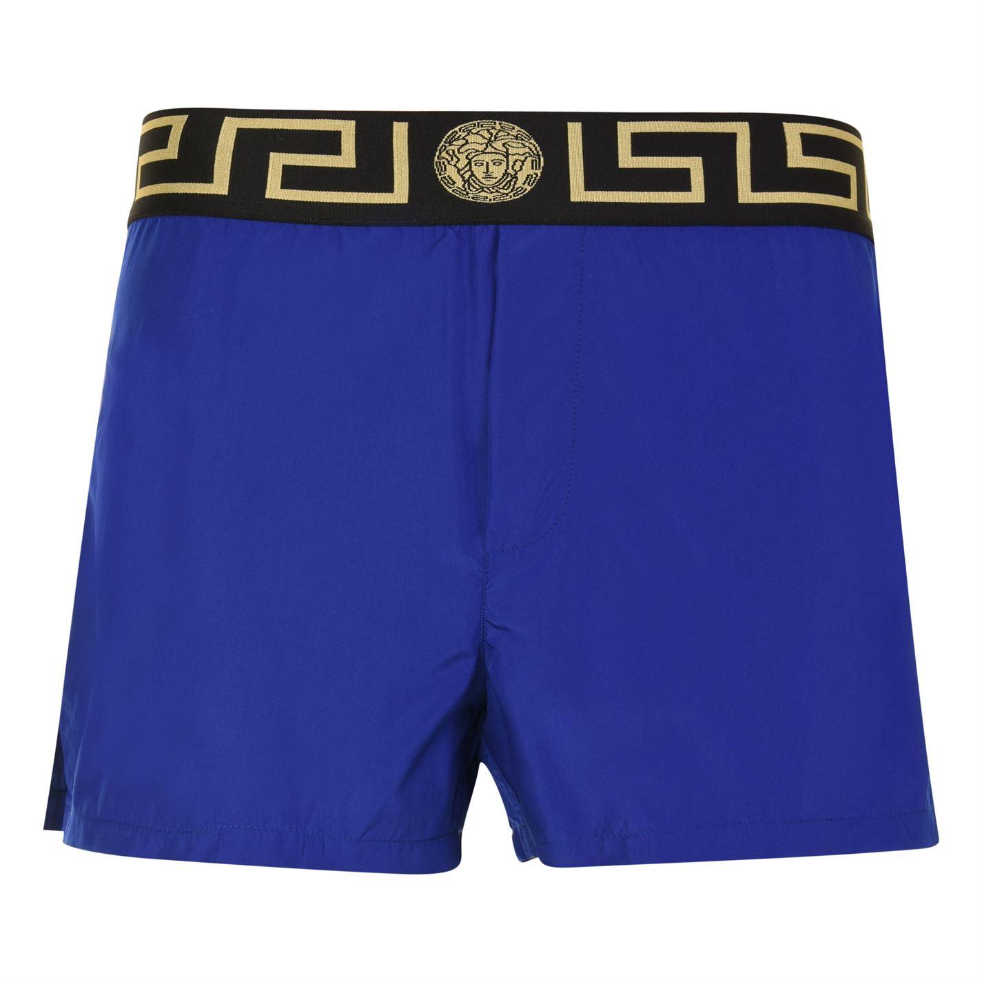 49539c020cd50 VERSACE ICON Greca Waistband Swim Shorts Blue/Gold A856L - Jeftinije.hr