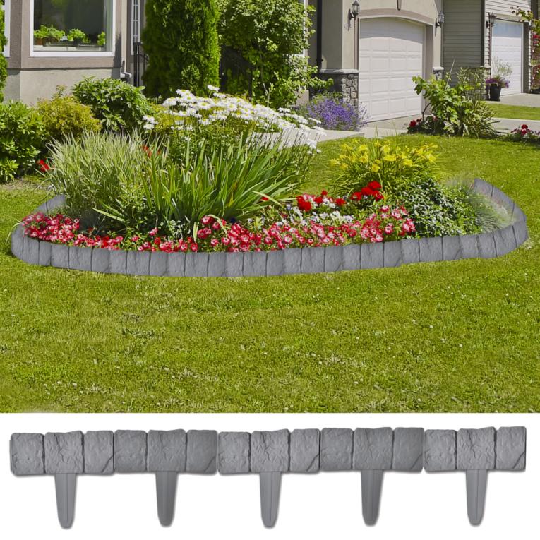 plasti na niska ograda u obliku kamena 41 kom 10 m. Black Bedroom Furniture Sets. Home Design Ideas