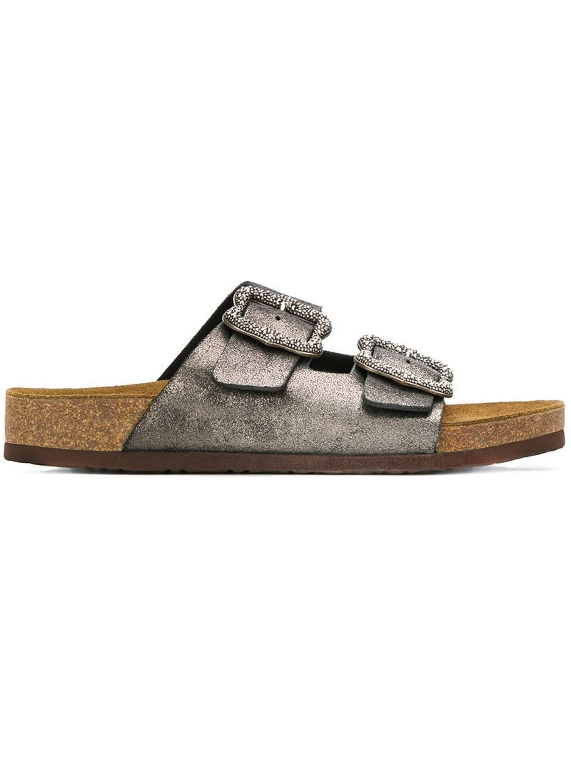 09d7a7ed165 Marc Jacobs-metallic buckle sandals-women-Metallic