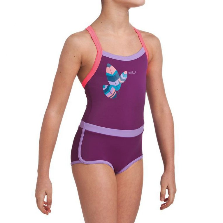 bee9042156ca7 Jednodjelni ljubičasti kupaći kostim za djevojčice Debo Light Nib -  Jeftinije.hr