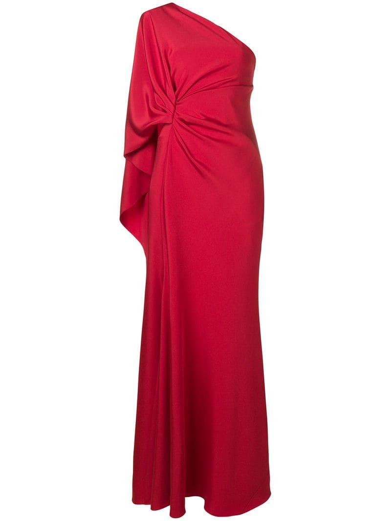 8cfc9350f23 Alberta Ferretti - one-shoulder draped gown - women - Red - Idealno.ba