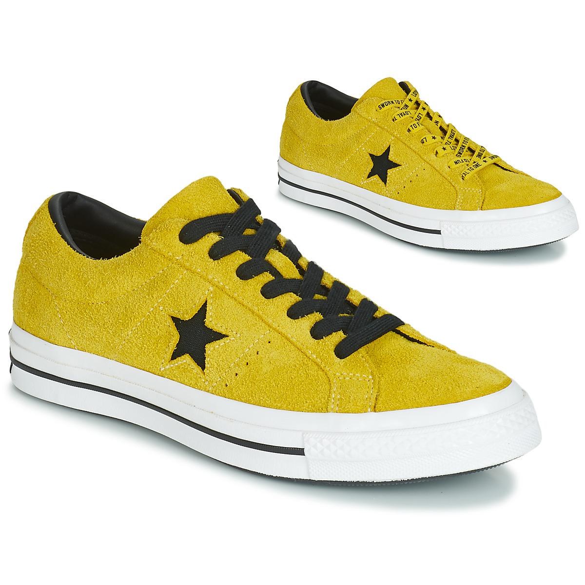 Converse Nizke superge ONE STAR DARK STAR VINTAGE SUEDE OX Rumena -  Ceneje.si 56a9247c57e