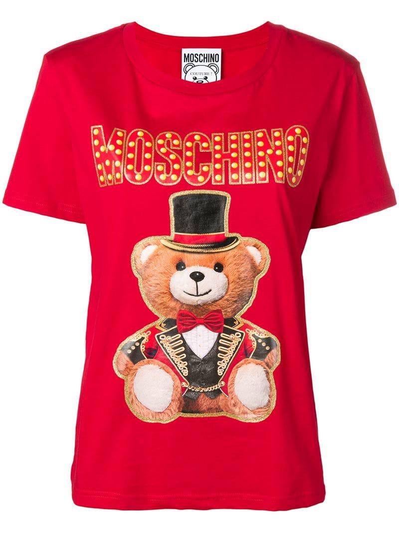 c69e2671c Moschino - Teddy Circus T-shirt - women - Red - Idealno.ba