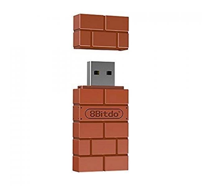 8BitDo, 8Bitdo Wireless USB Bluetooth adapter (PC/MAC/PS4/PS3/Xbox  One/Switch/WiiU/Wii), 308BIT0197