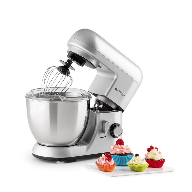 Klarstein Bella Pico Mini-kuhinjski robot, 800W, 1,1PS, 6 stopenj, 4 litri,  srebrna barva (TK2-Bella Picco A) - Ceneje.si d1fdfc842e71