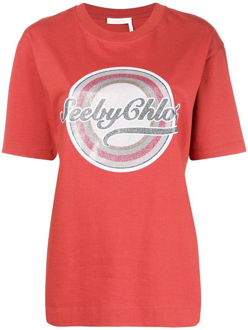 939da2b342 See By Chloé - SBC logo T-shirt - women - Red - Idealno.ba