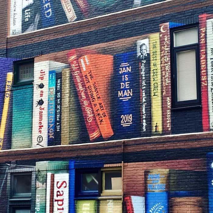 murales con libri