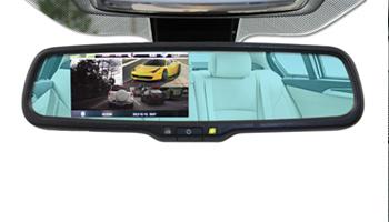 Зеркало с видеорегистратором и камерой