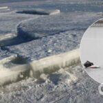 На Черкасщине провалились под лед и утонули рыбаки с ребенком