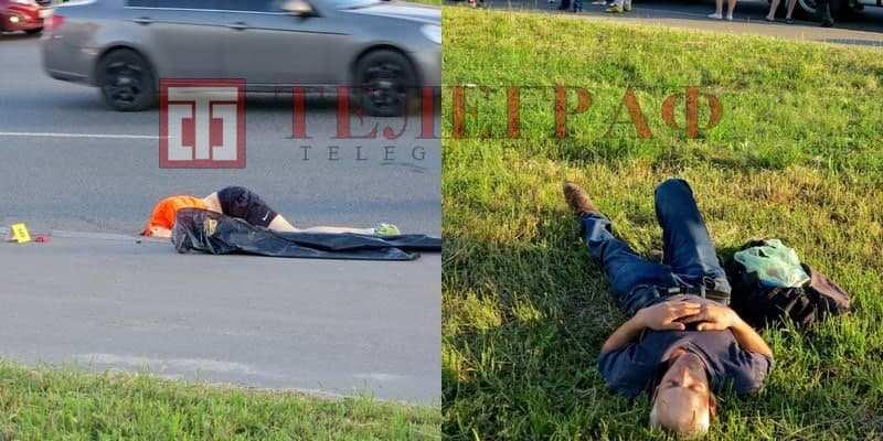 Толкнул велосипедиста под грузовик и лег спать в траве: нетрезвый мужчина стал причиной трагедии в Киеве (эксклюзивные фото)