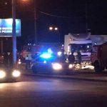 Возле моста в Киеве авто влетело в колонну фур