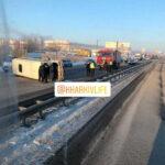 Перевернувшийся пассажирский автобус под Харьковом: появилась информация о пострадавших