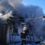Под Харьковом в горящем доме нашли тело погибшей женщины