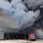 Масштабный пожар под Одессой: горит трёхэтажный склад сети супермаркетов (фото, видео)