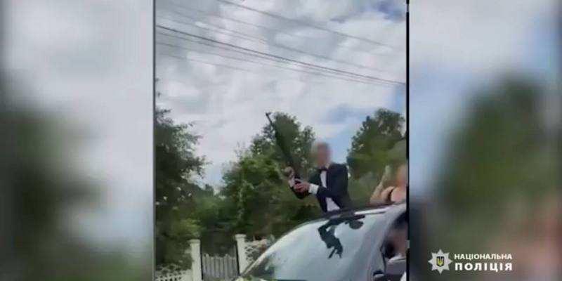 Со свадьбы за решетку: на Буковине жених открыл огонь из автомата среди людей (видео)