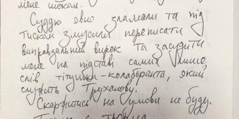 """""""Приговор стал для меня шоком"""": Стерненко написал письмо из СИЗО"""