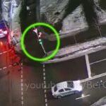 В Киеве водитель такси Uber устроил ДТП, прокатив на капоте пешехода несколько метров (Видео)