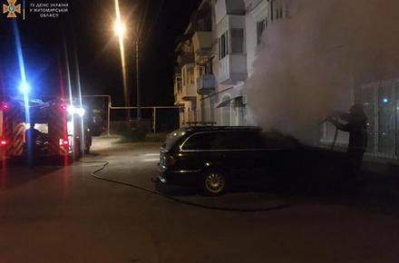 За добу в Житомирській області горіли 4 автомобілі, два з яких належать одному власнику