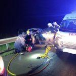 На автодорозі в Житомирській області ВАЗ врізався у відбійник: конструкція «прошила» автівку посередині