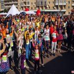 Як долали дистанції у 100 та 500 метрів наймолодші учасники Космічного напівмарафону в Житомирі