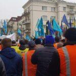 """Митингующие """"Укрзализныци"""" против Наблюдательного совета"""