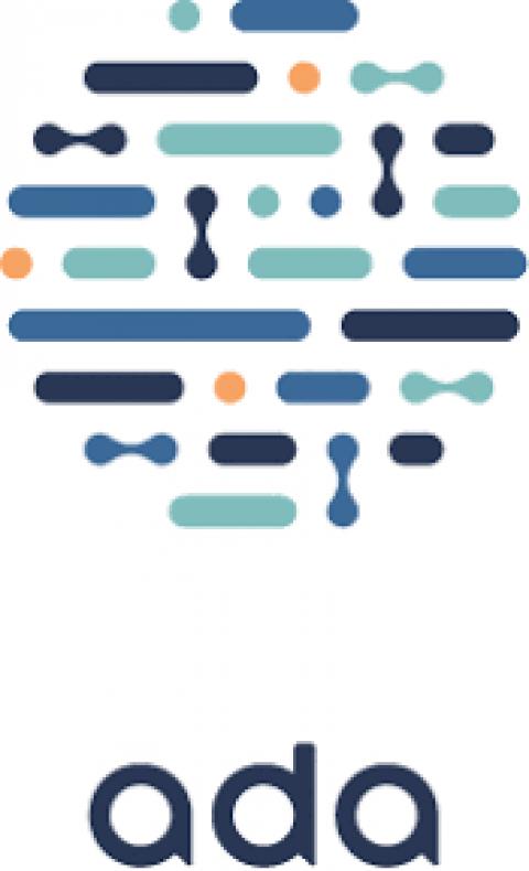 Company logo: ada health