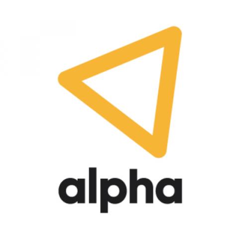 Company logo: alpha